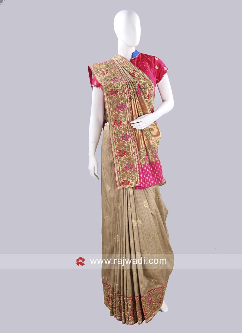 Bhagalpuri Silk Saree with Blouse