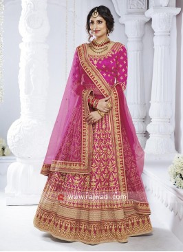 Bhagalpuri Silk Wedding Lehenga Set