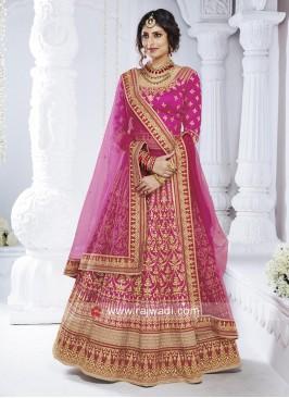 Bhagalpuri Silk Wedding Lehenga Set