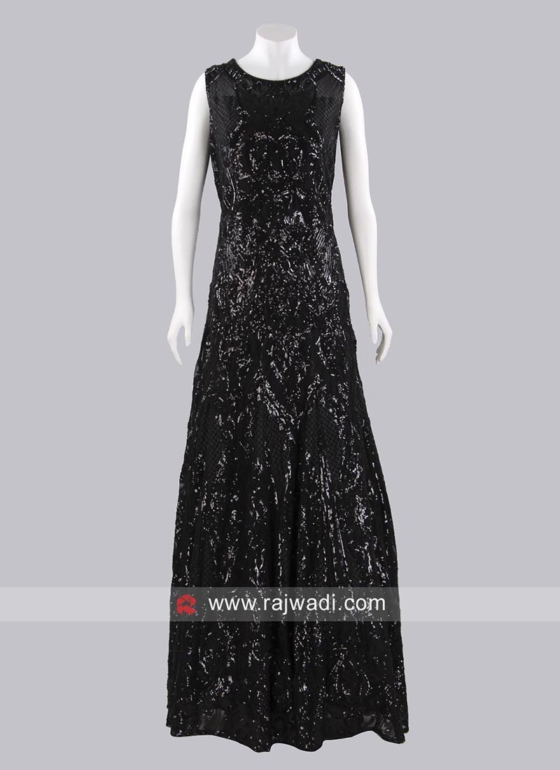 Black A Line Gown