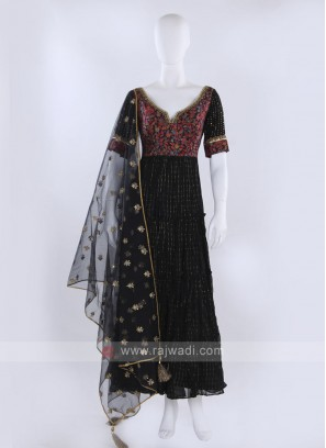 Black Anarkali Suit with dupatta