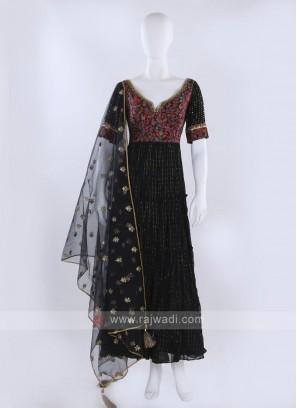 Black Anarkali Suit with dupatta