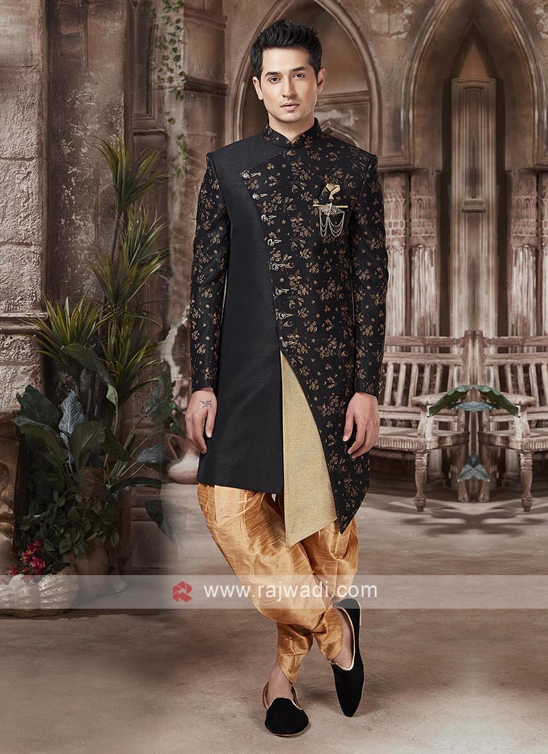 Black And Golden Colour Indo-western