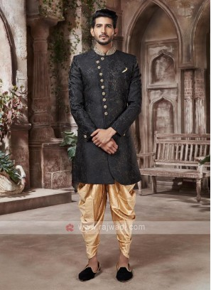 Black And Golden Indo-western