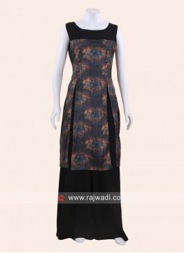 Black and Grey Short Long Kurti