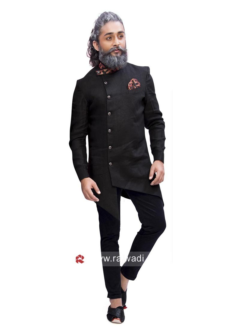 Stylish Black Color Indo Western