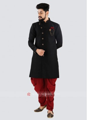 Black And Red Indo Western