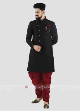 Black And Red Patiala Suit