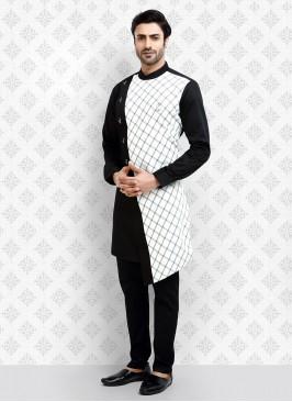 Black And White Color Kurta Pajama