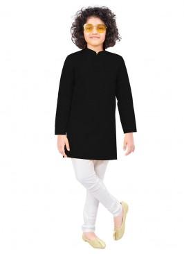 Black And White Kurta Pajama For Boy