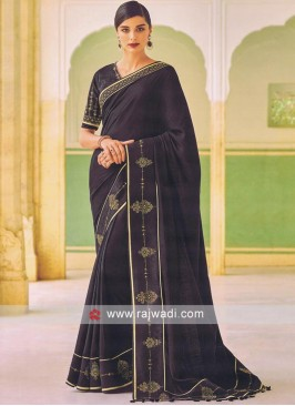 Black Art Silk Saree