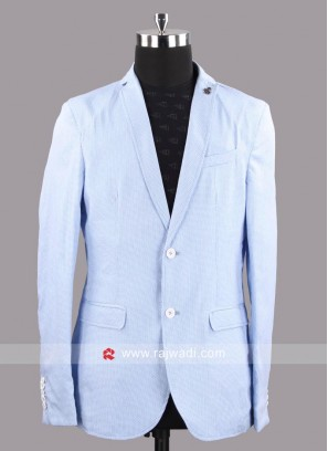 Black berry Cotton Silk Fabric Blazer For Party