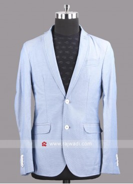 Black berry Cotton Silk Slim Fit Blazer