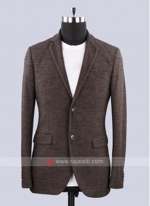 Black Berry Jute Silk Fabric blazer For party