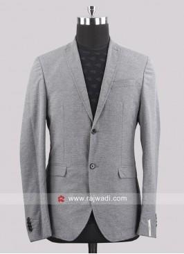 Black berry Jute Silk Pale Grey Blazer