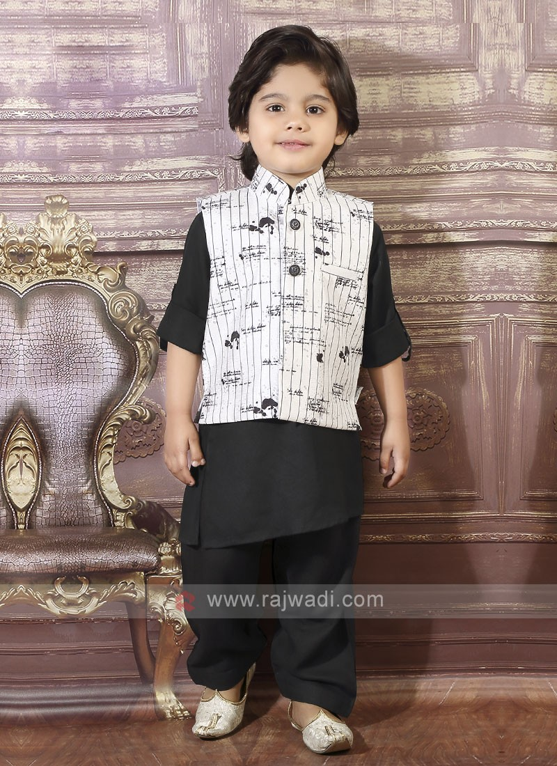 Black Boys Pathani Suit
