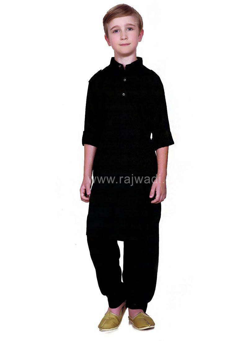Black Boys Pathani Suit