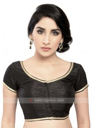 Black Brocade Ready Blouse