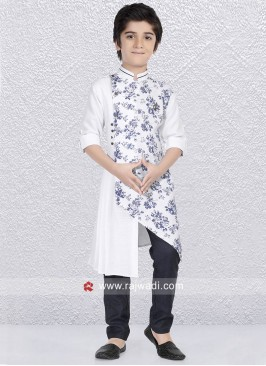 White Party Wear Kurta Pajama