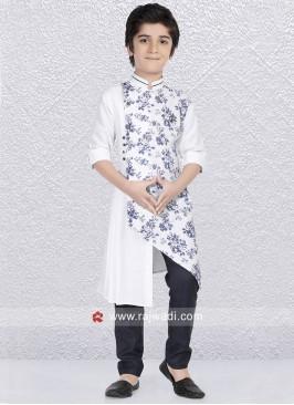 White Party Wear Kurta Pajama