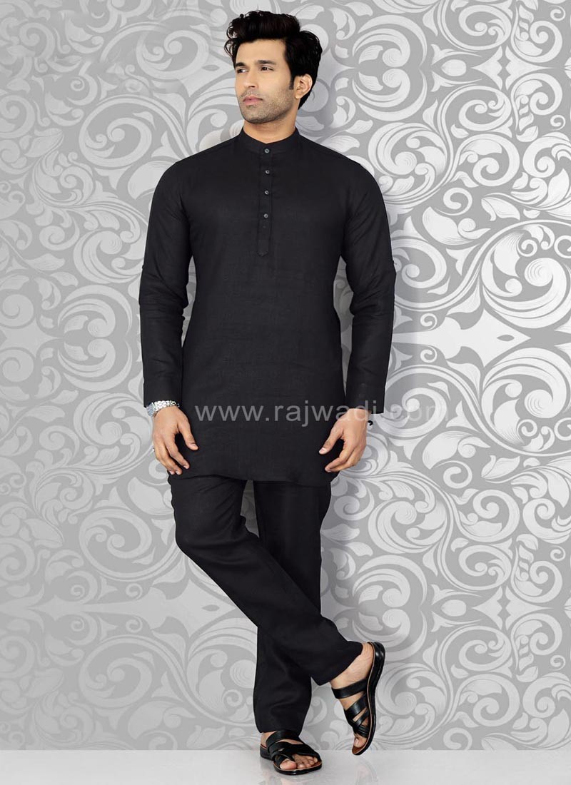 Black Casual Kurta Pajama