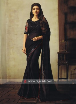 Black Chiffon Party Wear Saree