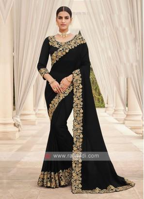 Black Classy Cutwork Saree