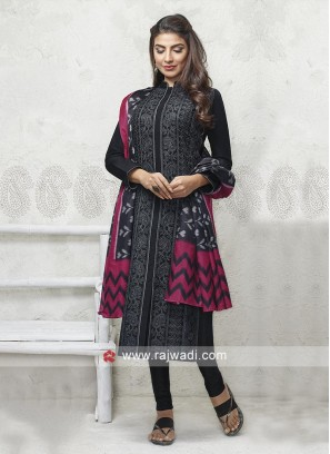 Black color cotton Salwar suit