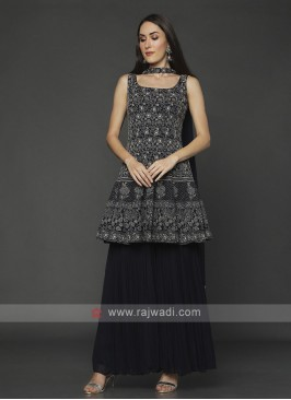 Black Color Gharara Suit