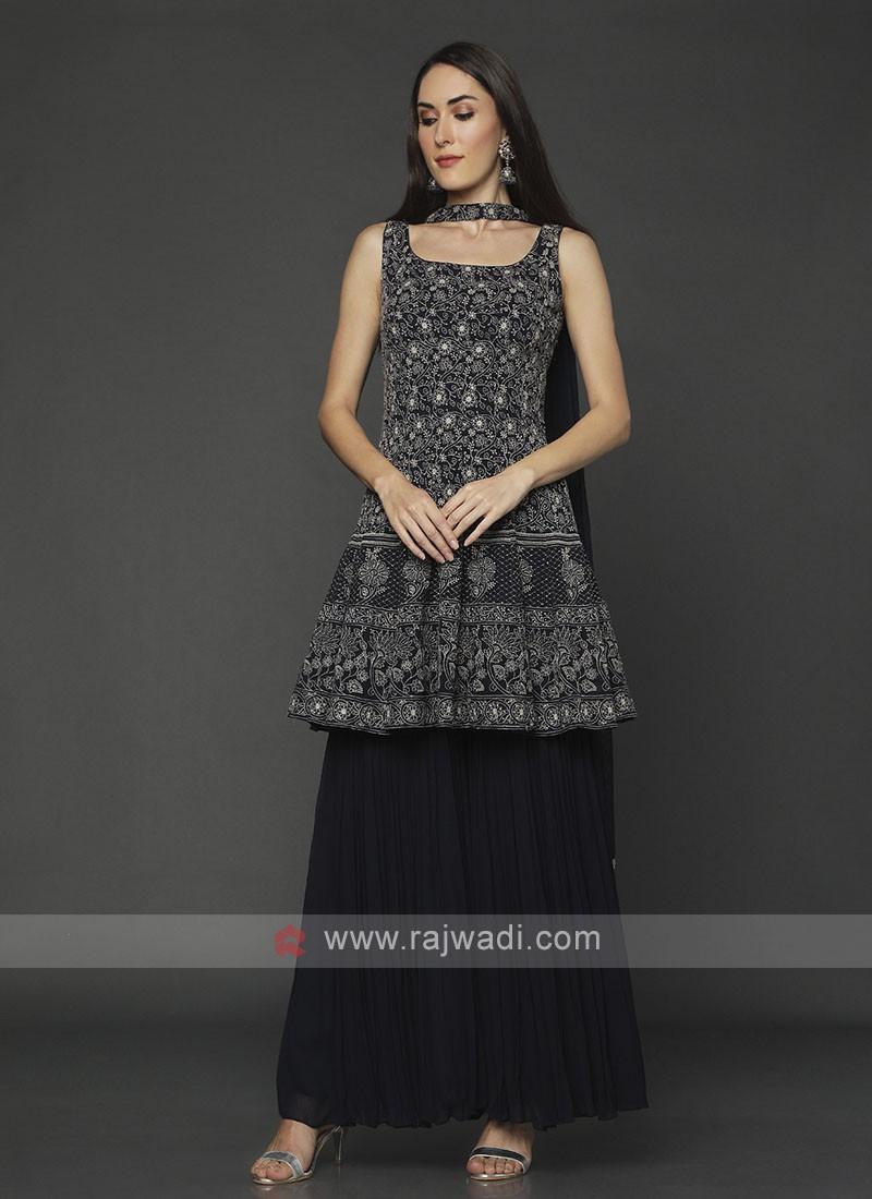 Black Color Gharara Suit