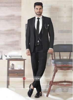 Black Color Imported fabric Suit