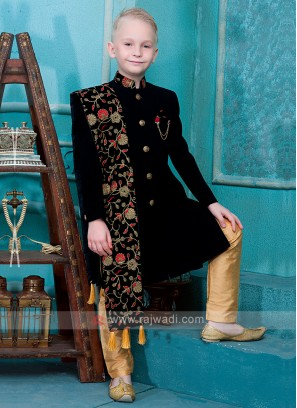 Black Color Indo Western for Boys