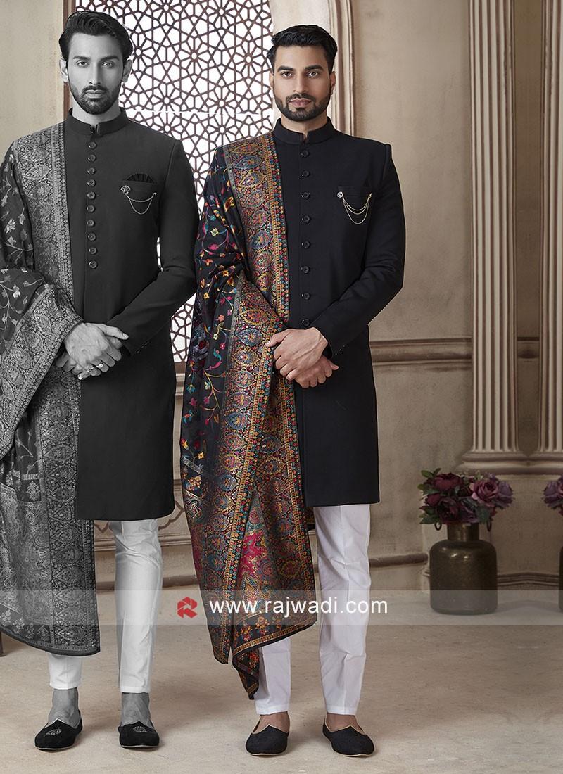 Black Color Indo Western With Dupatta