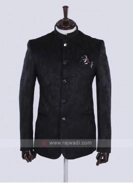 Black color Jodhpuri Suit