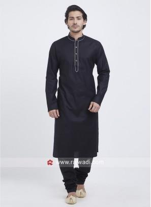 Black Color Kurta Pajama For Eid