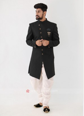 Black Color Mens Indo-Western