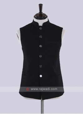 Black color nehru jacket