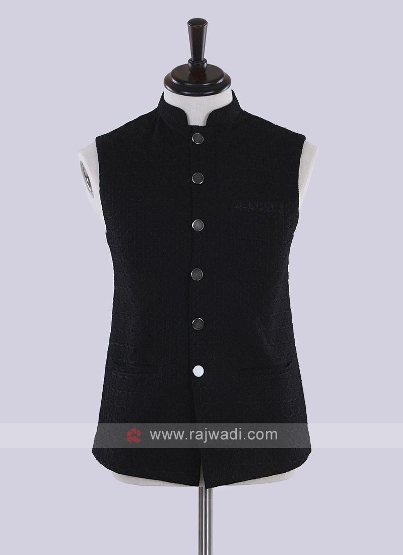 Black color nehru jacket