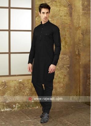 Black Color Pathani Set