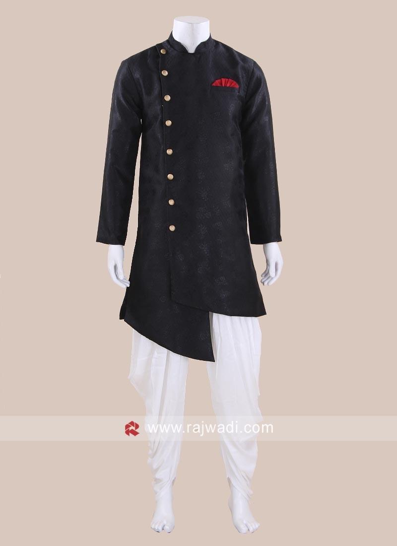 Black Color Patiala Suit For Mens