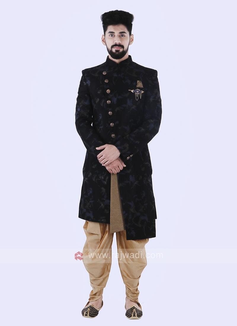 Black Color Stylish Indo Western