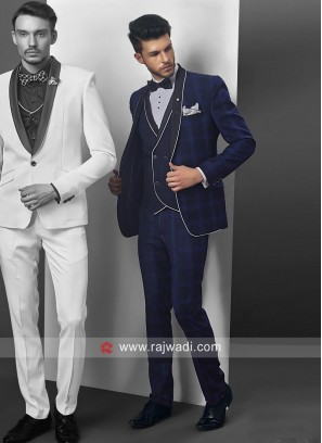 Charming Blue Party Wear Suit