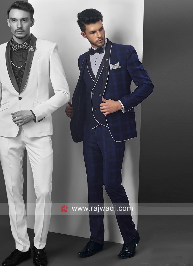 Charming Blue Party Wear Suit
