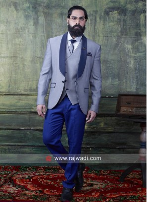 Silver Imported Fabric Suit