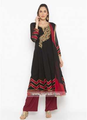 Black Colour Anarkali Suit