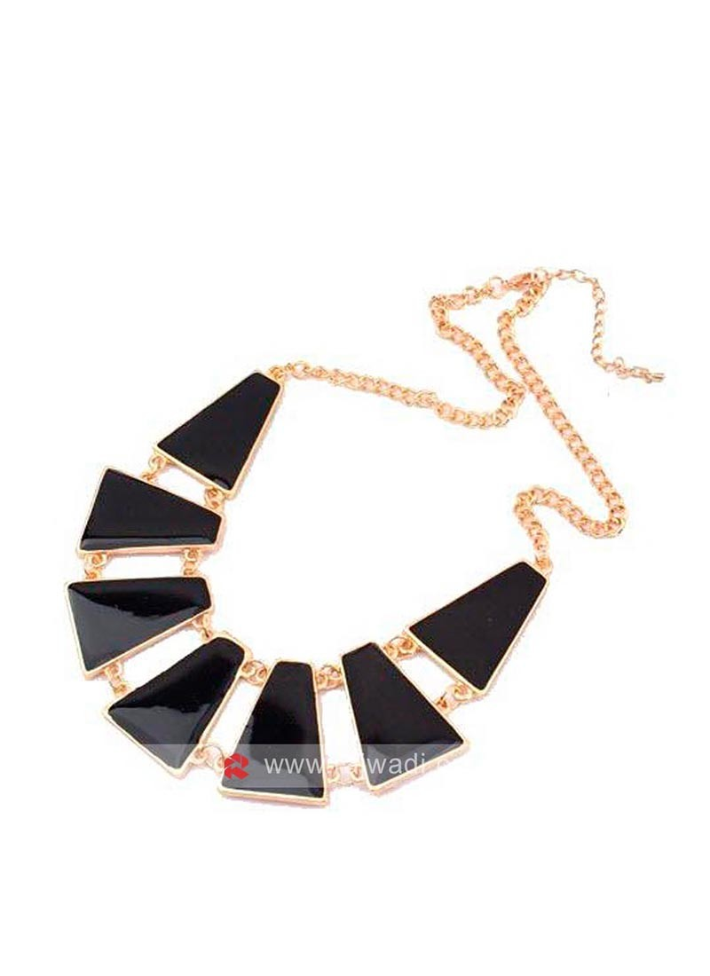 Black Designer Necklace