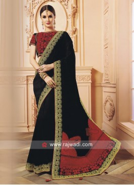 Black Designer Wedding Saree