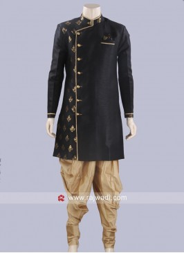 Black Full Sleeve Patiala Suit