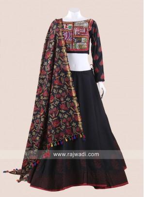 Black Gamthi Chaniya Choli for Navratri