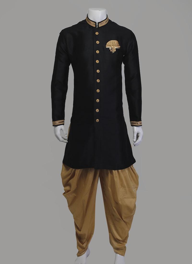 Black & Golden Indo-Western